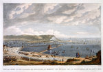 View of the Port and the Roadstead of Boulogne at the Departure of the Flotilla Fine Art Print by Theodore de Bry