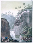 Explorers with Humboldt's expedition at the basalt cliffs at Regla Fine Art Print by William Beattie Brown