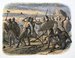 Death of King Harold, Battle of Hastings Wall Art & Canvas Prints by Roger Payne