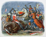 Death of Simon de Montfort, Battle of Evesham Fine Art Print by Janet and Anne Johnstone