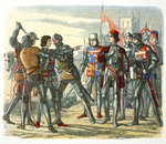Murder of Prince Edward after his capture by King Edward IV Poster Art Print by Peter Jackson