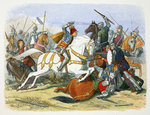 Richard III of England at the Battle of Bosworth Field Fine Art Print by James Edwin McConnell