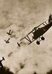 Pursuit. Aerial warfare Poster Art Print by English Photographer