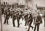 Riot during a strike by Standard Oil workers Fine Art Print by English School