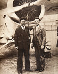 Aviators Wiley Post and Harold Gatty in front of 'Winnie Mae' Fine Art Print by Severino Baraldi