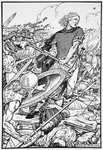Alfred the Great at the Battle of Ashdown Poster Art Print by C.L. Doughty