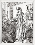 Circe sends the Swine (The Companions of Ulysses) to the Styes Wall Art & Canvas Prints by Roger Payne