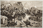 92nd Highlanders and 2nd Gurkhas storming Gaudi Mullah Sahibdad Wall Art & Canvas Prints by Edward Matthew Hale