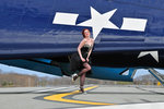 1940's style pin-up girl in cocktail dress posing in front of a TBM Avenger. Postcards, Greetings Cards, Art Prints, Canvas, Framed Pictures, T-shirts & Wall Art by Jules Pascin