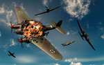 British Hawker Hurricane aircraft attack a German Heinkel He 11 bomber. Wall Art & Canvas Prints by Muggeridge
