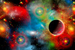 Artist's concept illustrating our beautiful cosmic universe. Wall Art & Canvas Prints by Izabella Godlewska de Aranda