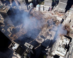 Aerial view of the destruction where the World Trade Center collapsed. Postcards, Greetings Cards, Art Prints, Canvas, Framed Pictures, T-shirts & Wall Art by Felice Beato