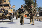U.S. military soldiers in Farah City, Afghanistan. Wall Art & Canvas Prints by .