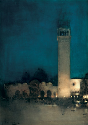 The Blue Night, Venice, 1897 Fine Art Print by Arthur Melville
