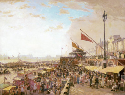Bank Holiday, Brighton, 1933 Fine Art Print by Charles Cundall