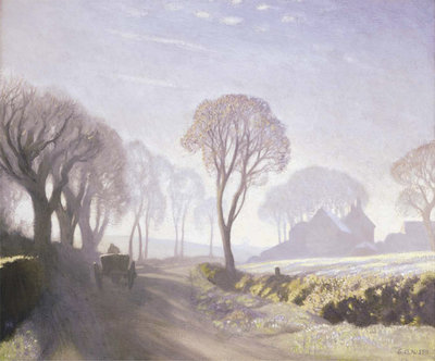 The Road, Winter Morning, 1923 Fine Art Print by Sir George Clausen