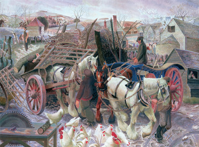 A Cotswold Farm, 1930-1 Fine Art Print by Gilbert Spencer