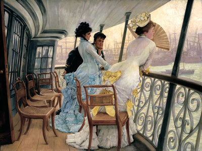 The Gallery of HMS Calcutta circa 1876 Fine Art Print by James Jacques Joseph Tissot