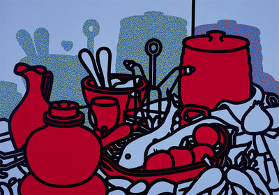 Glazed Earthenware, 1976 Poster Art Print by Patrick Caulfield
