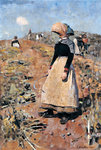 Berwickshire Field-Workers, 1884 Fine Art Print by Gilbert Spencer
