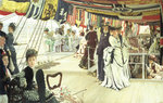 Ball on Shipboard, c.1874 Fine Art Print by James Jacques Joseph Tissot