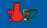 Coloured Still Life 1967 Fine Art Print by Patrick Caulfield