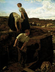 Turf Cutters, 1869 Fine Art Print by Gilbert Spencer