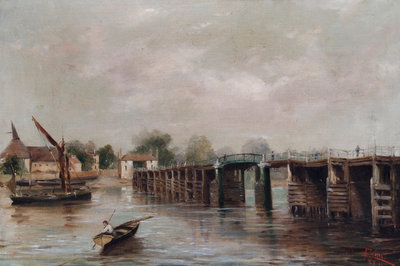 Old Putney Bridge, London Fine Art Print by Parrini