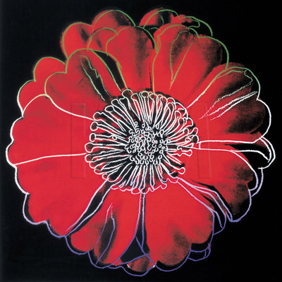 Flower for Tacoma Dome, c. 1982 (black & red) Fine Art Print by Andy Warhol