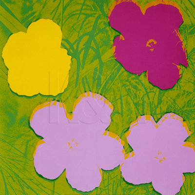 Flowers, 1970 (1 yellow, 2 lilac, 1 purple) Fine Art Print by Andy Warhol