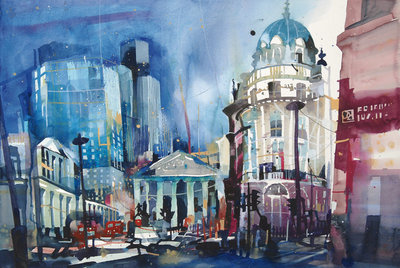 Bank Junction London by Bernhard Vogel - art