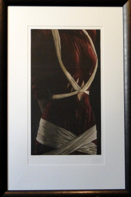Red Dress With Ribbons by Willi Kissmer - art