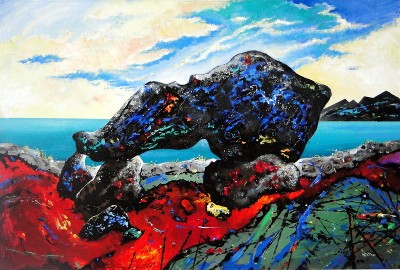 Carreg Samson, Abercastle, wales by David Wilde - art