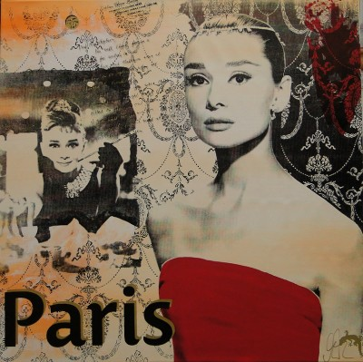 Audrey Hepburn 'Paris' by Devin Miles - art