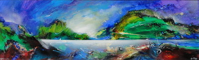 Bala Lake by David Wilde - art