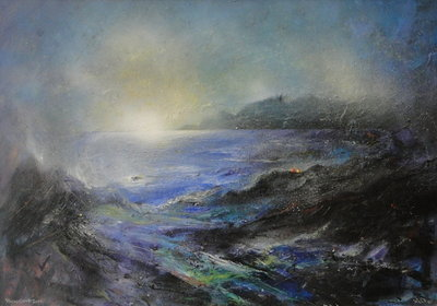 Stormy Cornish Dawn by David Wilde - art