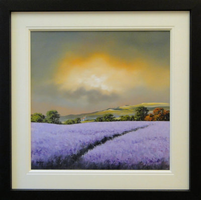 Lavender Fields by Allan Morgan - art
