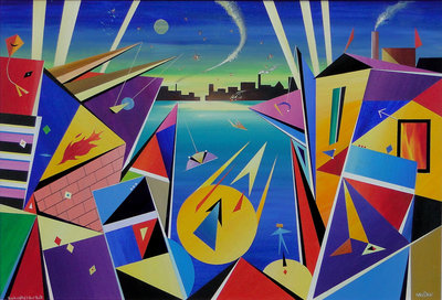 Kandinsky's Air Raid by David Wilde - art