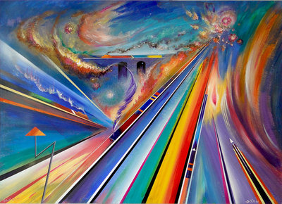 Futurist Steam by David Wilde - art