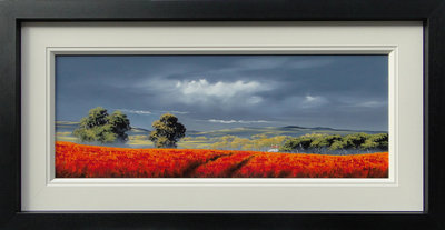 Little Red Roofed Cottage by Allan Morgan - art