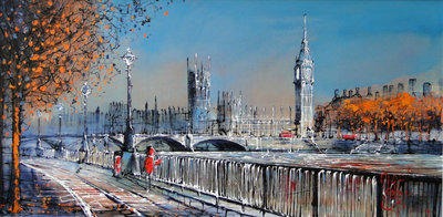 Early By The Thames (Framed) by Nigel Cooke - art