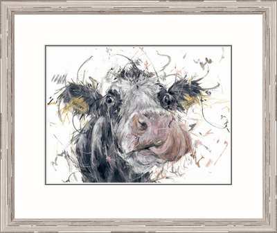 Cheeky Cow (*Please call the gallery for delivery price) by Aaminah Snowdon - art
