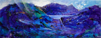 DAWN, SNOWDONIA by David Wilde - art