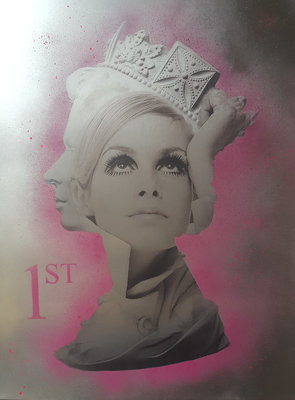 Twiggy is 1st Class (Framed) by Dan Pearce - art