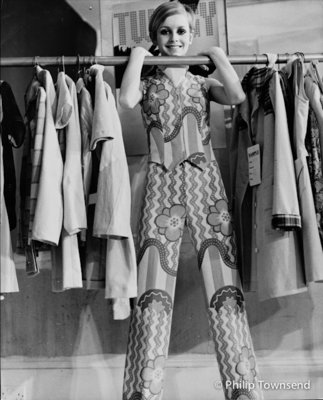 Twiggy, Fashion shoot (small) by Philip Townsend - art