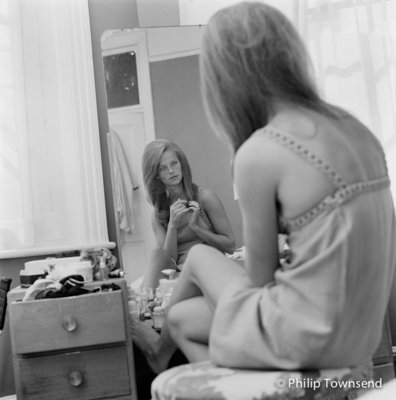Charlotte Rampling in Front of Mirror (small) by Philip Townsend - art