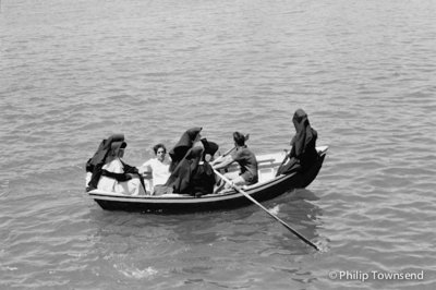 Nuns in a boat (small) by Philip Townsend - art