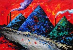 Volcanos Blazing by David Wilde - art