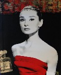 Audrey Hepburn 'Chanel' by Devin Miles - art