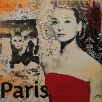 Audrey Hepburn 'Paris' by Roy Fairchild - art